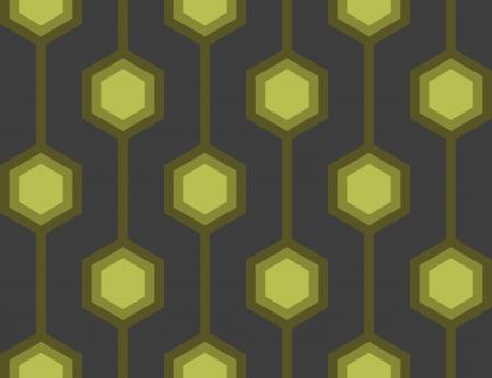 Senza soluzione di piastrelle con un motivo esagonale retr� in verde.