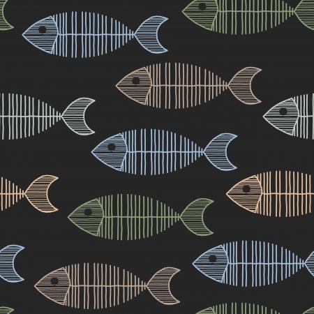 Senza soluzione di piastrelle con un modello retr� anni '50 lisca di pesce ripetizione.