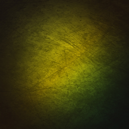 A grunge textured background with a gradient of green. Illustration