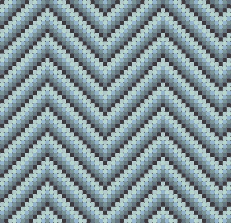A seamless 60s retro zigzag pattern in cool colours, which is made of a mosaic of rounded squares. Perfect for repeat tiling or a stand alone wallpaper.