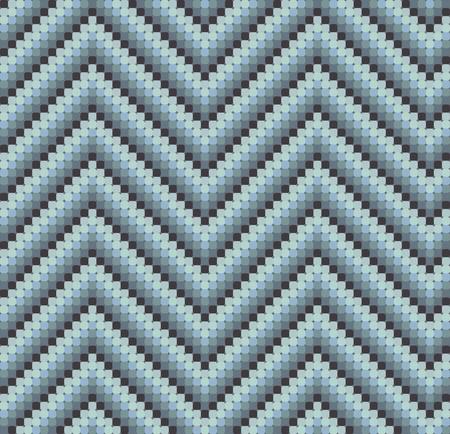 Una perfetta 60s zigzag retro in colori freddi, che � fatto di un mosaico di quadrati arrotondati. Perfetto per piastrelle di ripetizione o di una carta da parati a s� stante.