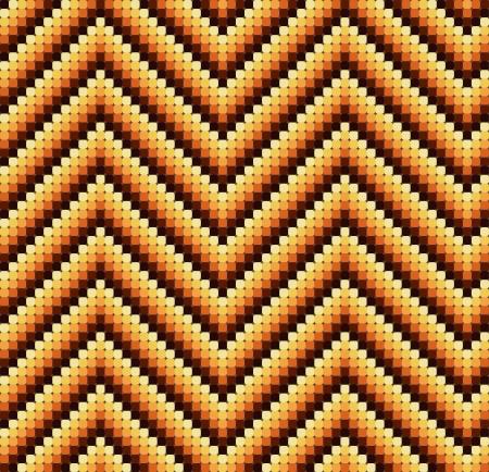 Una perfetta 60s zigzag retr� con colori caldi, che � fatto di un mosaico di quadrati arrotondati. Perfetto per piastrelle di ripetizione o di una carta da parati a s� stante.