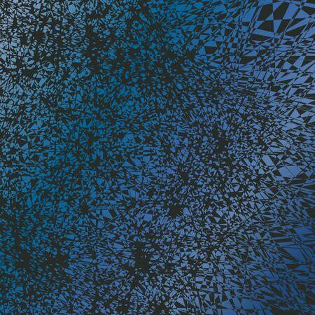 Uno sfondo grunge con un modello fortemente distorta cinetica in un gradiente di blues. Vettoriali