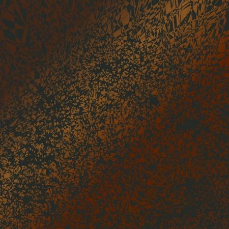 Uno sfondo grunge con un modello fortemente distorta cinetica in un gradiente dal marrone al rosso.