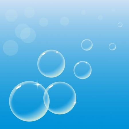 Un disegno di sfondo con le bolle di sapone contro un cielo blu chiaro. Questo sarebbe anche perfetto come lo sfondo di un avatar.