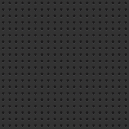 Dark seamless background tile with perforations