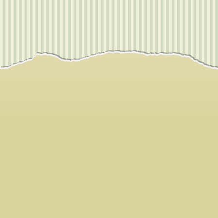 cream paper: Background design with beige paper torn to reveal a stripes pattern behind. Illustration
