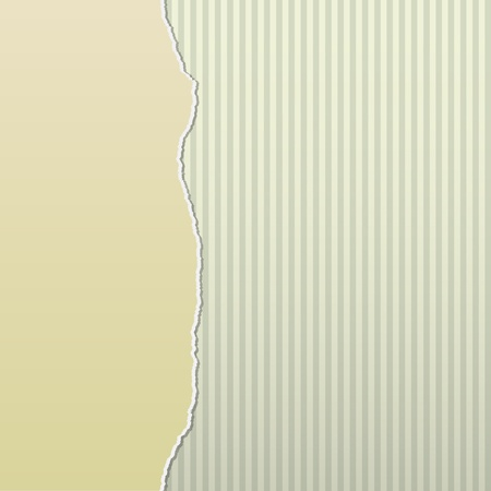 Background design with beige paper torn to reveal a stripes pattern behind. Illustration