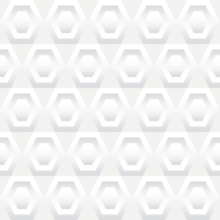 Seamless background tile with a pattern of white inset hexagons. Illustration