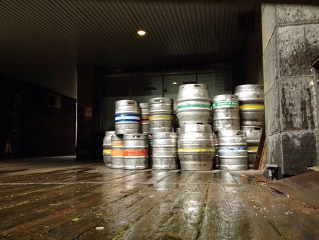 Beer Kegs Delivery at a Warehouse