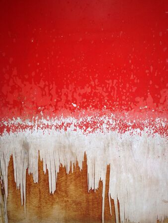 Worn Out Painted Red Door Grunge Background