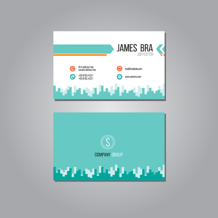 business card: Line Business Card Template