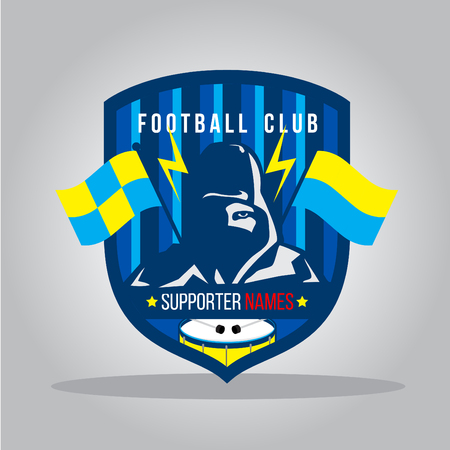 hooded: Supporter club badge template