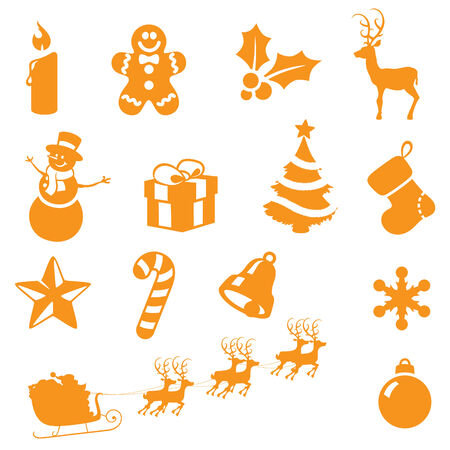 individually: Individually grouped christmas icons.