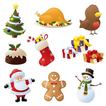 Icone di Natale Archivio Fotografico - 32409523