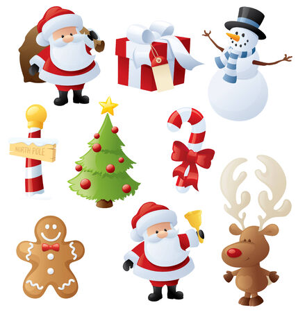 Little Christmas icons.
