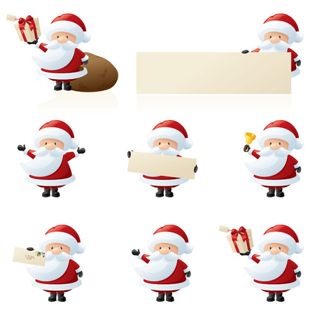 tubby: 8 separately grouped tubby little santas.