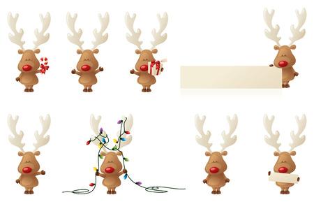 8 piccoli Rudolphs raggruppate separatamente. Archivio Fotografico - 32409739