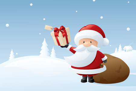 hes: Santa doing what hes supposed to be doing. Illustration