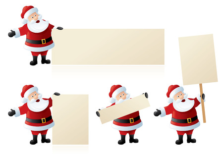 displays: Santa displays the message of your choice. Illustration