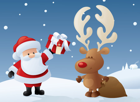 maybe: Rudolph helps Santa or maybe its the other way around!