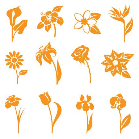 tallo: Iconos de la flor - gradiente f�ciles y gratuitos para cambiar el color.