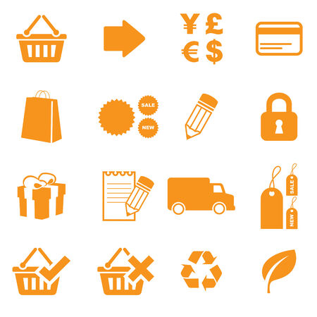 Icons for shopping online. Easy to change colour. Vector