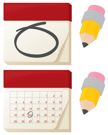 Calendars marking that important date. Vector