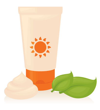 sun cream: Sun Cream Illustration