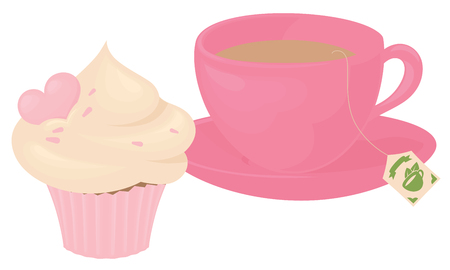 teabag: Cup of tea and cupcake., or remove teabag and have a coffee instead.