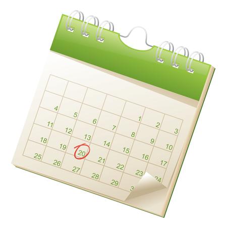 circled: Calendario.