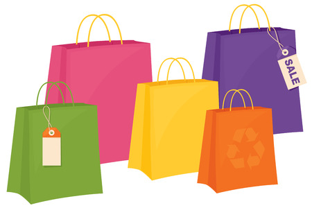 carrier bag: Carrier bags and tags.