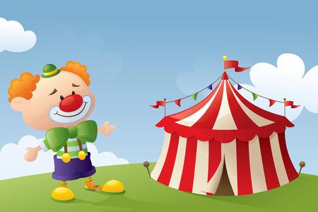 big top: Clown and Circus Tent.