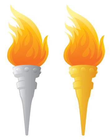 torch flame: Flaming Torch.