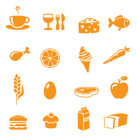 MEAT LOAF: Various food and drink icons. Illustration
