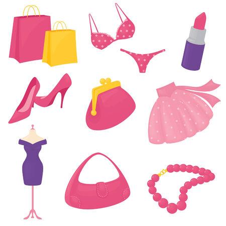 accessoire: Girly accessoire pictogrammen. Gradiënt gratis.