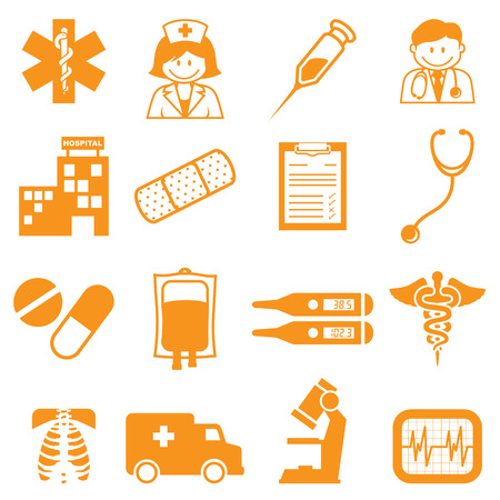 iv drip: Medical icons - easy to change colour.
