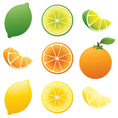 lemon lime: Limone, lime, arancio.