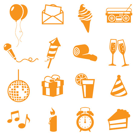 party horn blower: Party Icons - gradient free and easy to change colour.