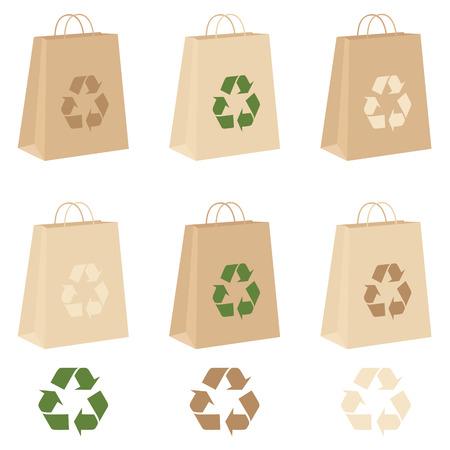 environmentally friendly: Individually grouped environmentally friendly carrier bags.