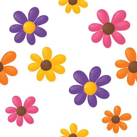 Seamless flower background.  Vector
