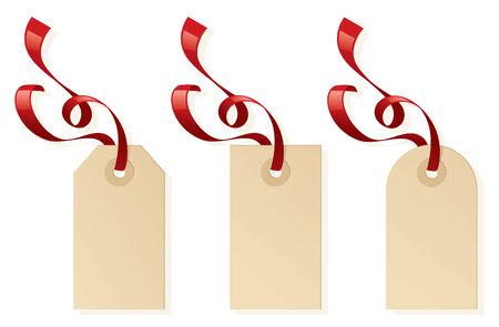 Tag regalo vuoto per il vostro messaggio. Archivio Fotografico - 32712807