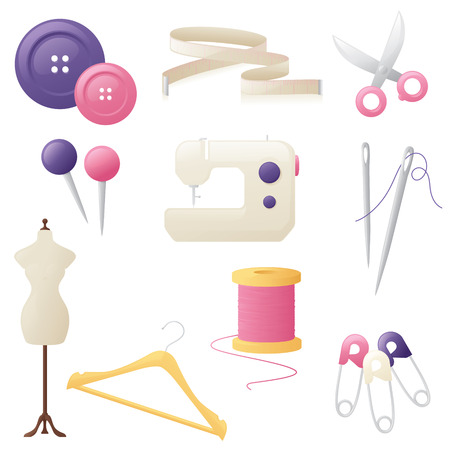 Sewingtailoring related icons.