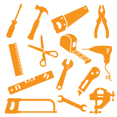 monkey wrench: Tool icons. Easy to change colour.