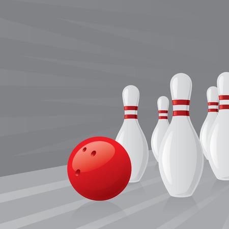 quilles: Ten Pin des quilles de bowling et balle.