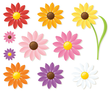 Collection of daisies. Put your favourite on the stem.