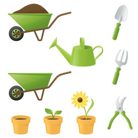 Selection of gardening related items.
