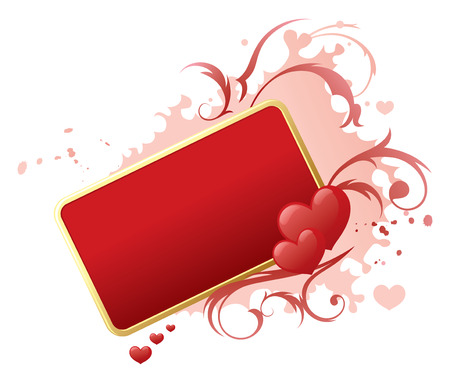 text frame: Valentines Day text frame banner.