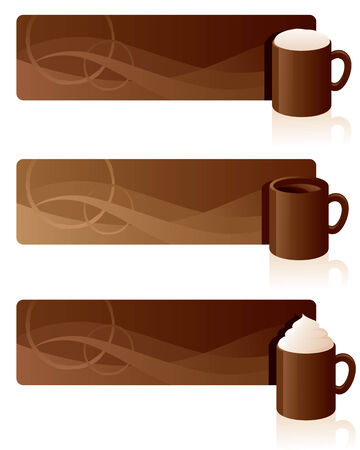 froth: Red coffee banners