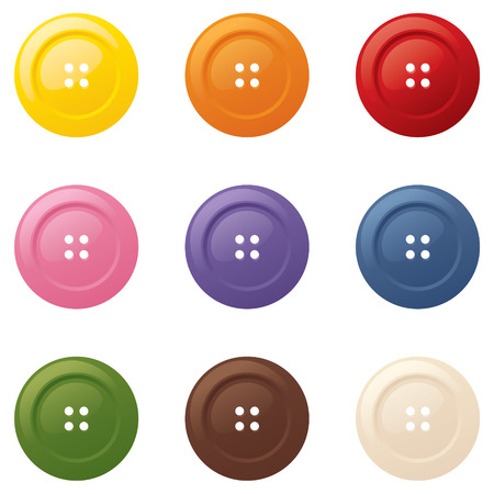 shiny buttons: Shiny buttons in bright colors.